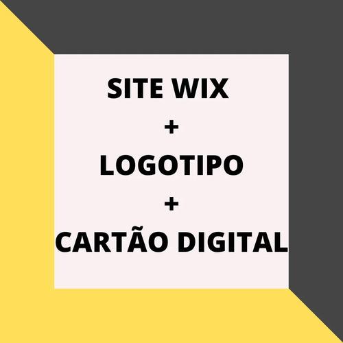 site wix + cartão digital + logo