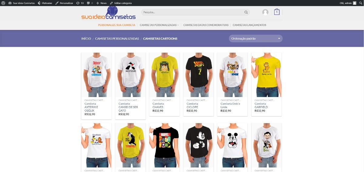 5700b9c938 site wordpress camisetas personalizadas. Carregando zoom.