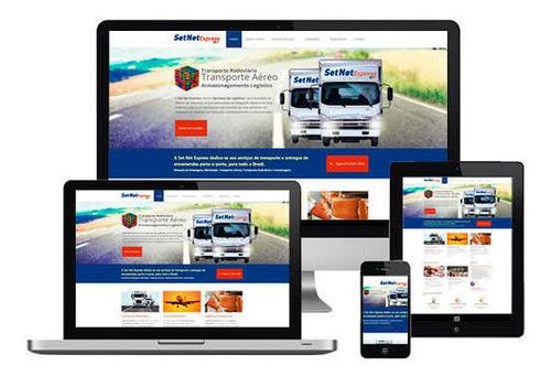 sites responsivo institucional domínio + hospedagem grátis