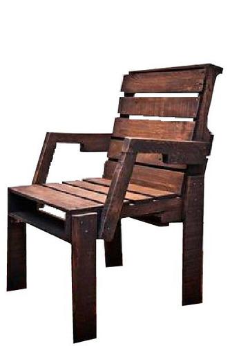 sitial nogal madera reciclada pantano pallet silla a medida