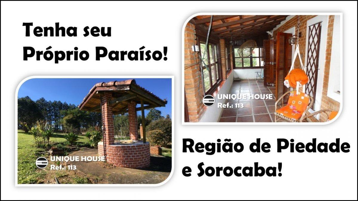 sítio a venda no bairro centro em piedade - sp.  - 113-1