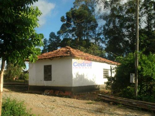 sítio com 1 dormitório à venda, 73000 m² por r$ 650.000,00 - cézar de souza - mogi das cruzes/sp - si0012