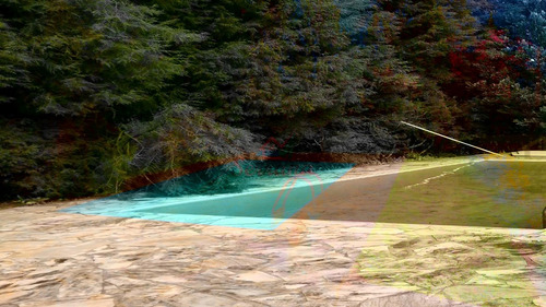 sítio com 2 alqueires com piscina área toda gramada
