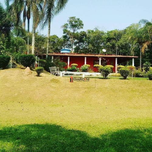 sítio com 2 dormitórios à venda, 24311 m² por r$ 700.000,00 - parque residencial itapeti - mogi das cruzes/sp - si0007