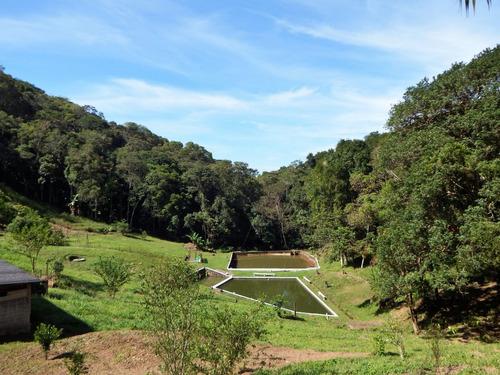 sítio com 26.000 m² 3 tanques para peixes bem localizado
