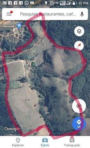 sítio com 30 ha no município de alagoa mg, terra do queijo , cachoeira no terreno , rio auiruoca na divisa, casa boa . - 344