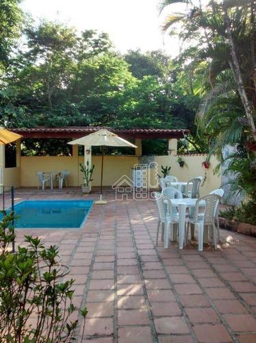 sítio com 4 dormitórios à venda, 18000 m² por r$ 350.000 - boa vista - cachoeiras de macacu/rj - si0024