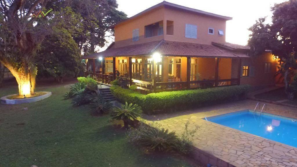 sítio com 5 dormitórios à venda, 43796 m² por r$ 900.000,00 - condomínio santa luzia  - mogi mirim/sp - si0008