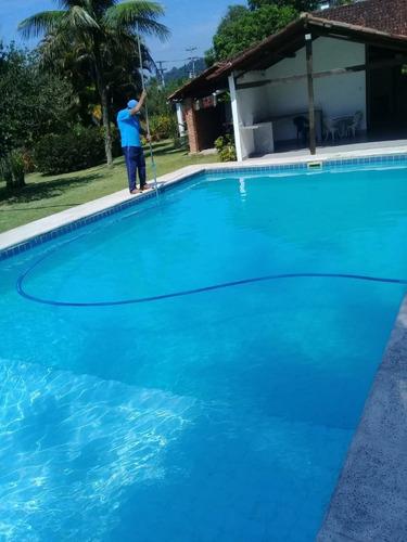 sítio com 64.000 m2 , em cachoeira de macacu, rj. casa 04 quartos ,lareira ,  piscina , área gourmet. - 524