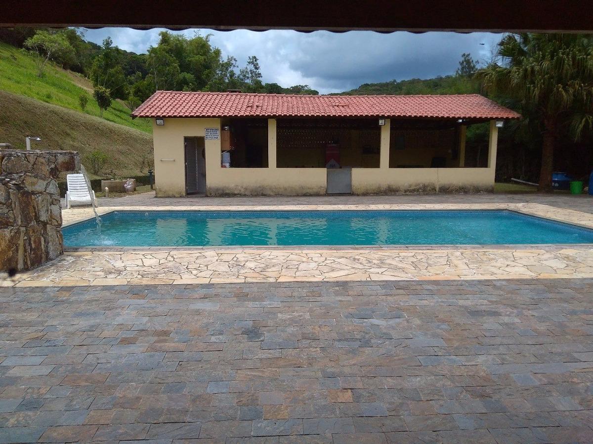 sítio com piscina campo de futebol 33.000 m² ótimo acesso