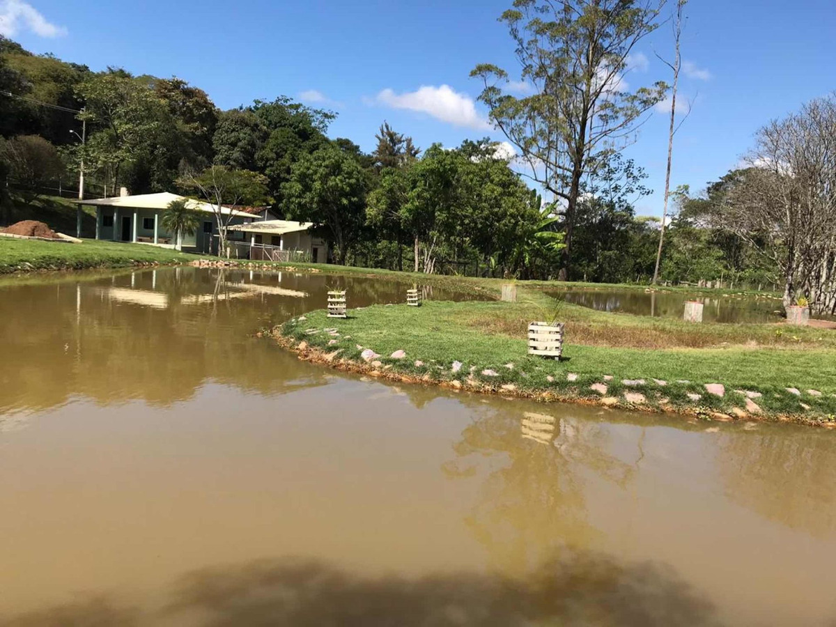 sítio condomínio nossa fazenda 6740 mts lagoa com peixes gr