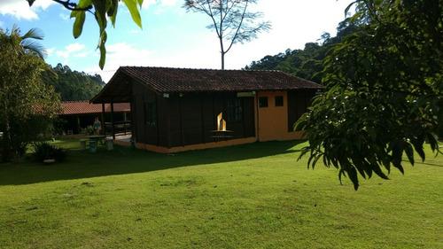 sítio montado com pomar e casa em madeira - pedra azul. - 18201