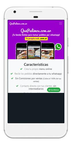 sitio web administrable para recibir pedidos via whatsapp