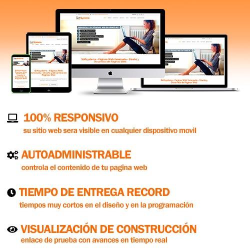 sitios web - páginas web - 100% responsive - administrable