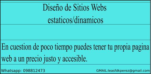 sitios webs