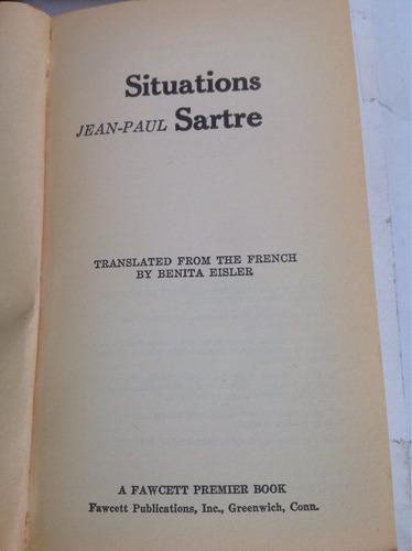 situaciones. jean-paul sartre (idioma inglés)