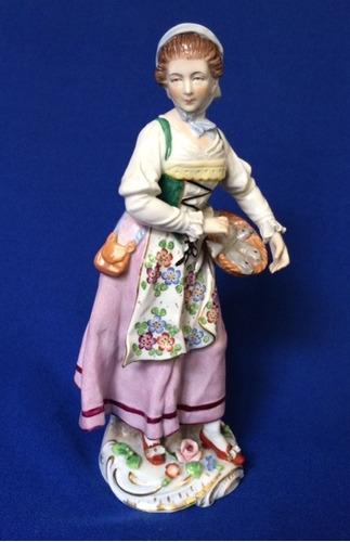 sitzendorf figura de porcelana alemana