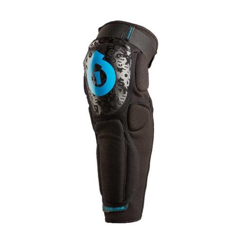 sixsixone rage hard knee/shin guard (black, x-large)