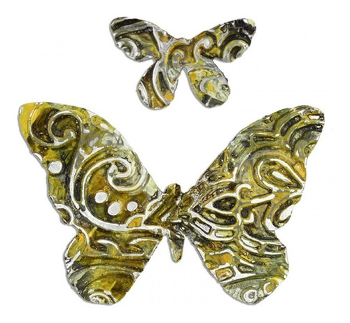 sizzix - faca thinlits com placa de emboss  borboleta