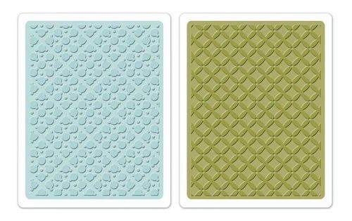sizzix placas de emboss - dotted square set