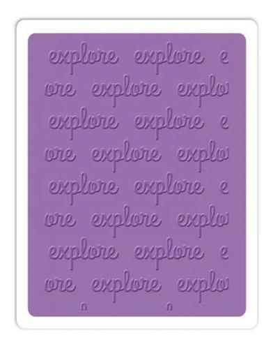 sizzix placas de emboss - explore