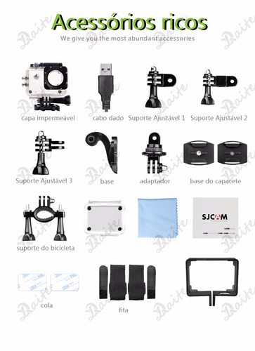 sj4000 câmera esporte 2.0inch 12mp 1080p full hd sjcam