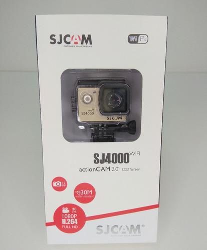 sj4000 wi-fi sjcam + microfone externo moto vlog patomotosjr