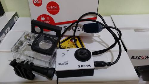 sj4000 wifi original + microfone para capacete + case extra
