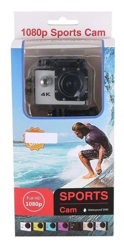 sj4k deportes al aire libre de plata 1080p cámara resistente