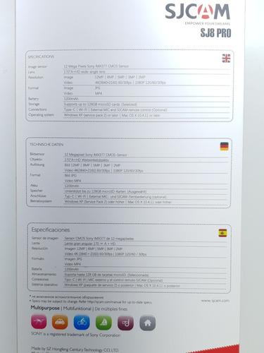 sjcam sj8 pro original + nota fiscal 1 ano garantia dudacell