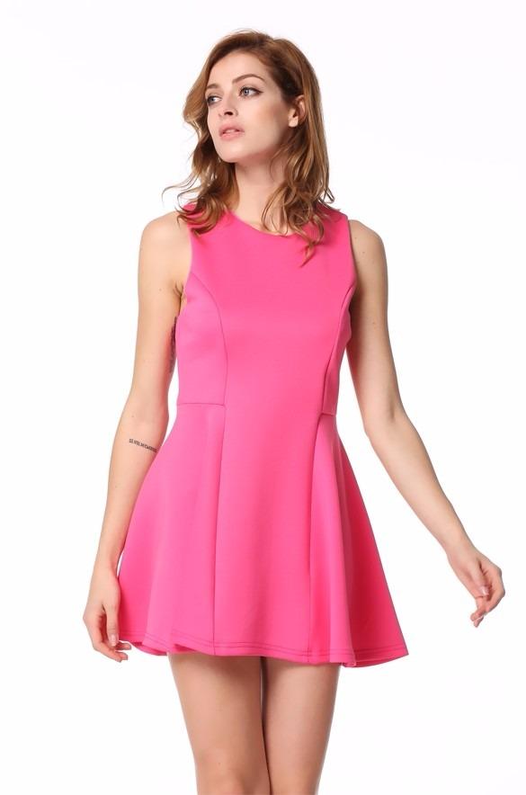 35003c81f sk01 entrega inmediata vestido rosa estilo casual juvenil. Cargando zoom.