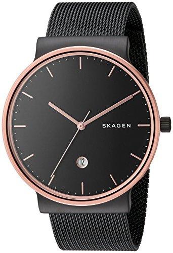 skagen skw6296 ancher black mesh watch de skagen para hombre