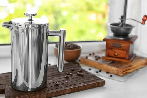skamroff premium prensa de café francesa de acero inoxi