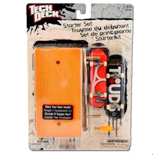 skate básico set de principiante naranja- tech deck