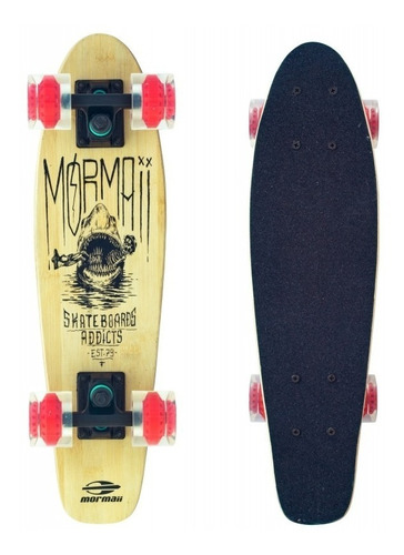 skate cruiser 56cm bamboo lixa 80ab longboard shark 461700