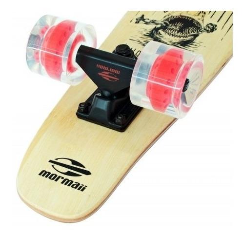 skate cruiser 56cm bamboo lixa 80ab longboard tubarão 461700