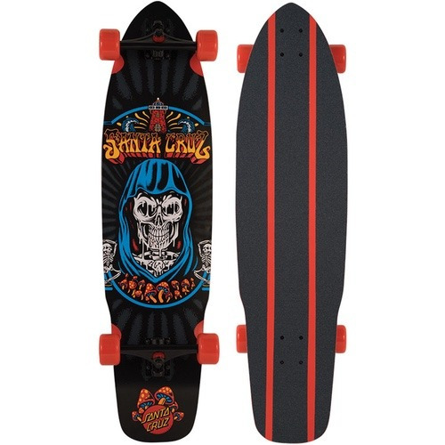 skate cruiser santa cruz  flex tech trippin  - 9.72 x 37,78