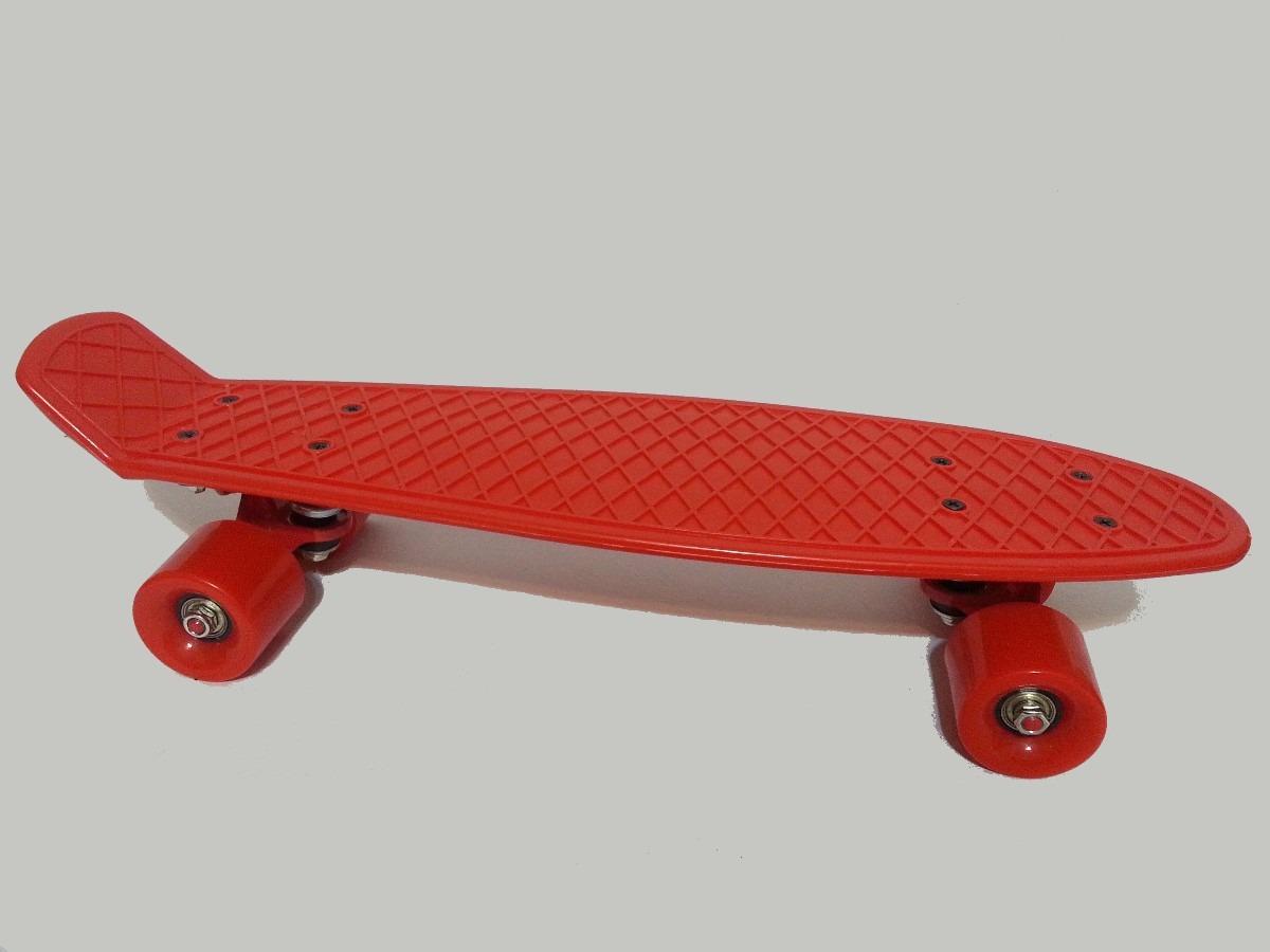 skate cruiser mini longboard skates old school vermelho r 120 00 em mercado livre. Black Bedroom Furniture Sets. Home Design Ideas