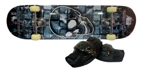 skate doble cola c/protecciones y funda powerblade original