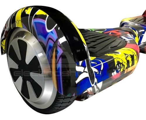 skate electrico patineta hoverboard bluetooth luz led 120 kg