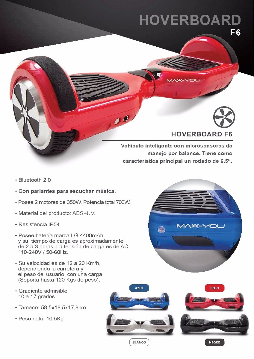 d010d6a7c2c2b skate hoverboard f6 patineta eléctrica bluetooth bateria lg. Cargando zoom.