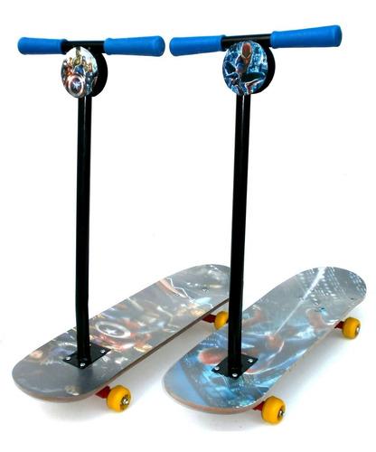 skate infantil con manubrio removible ruleman tabla madera