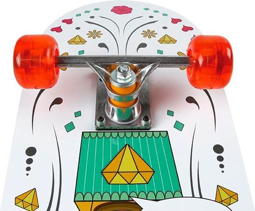 skate iniciante 79x20cm - mor row - aluminio + rodas em gel