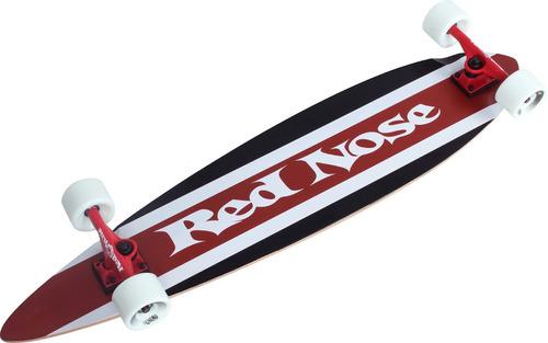 skate longboard red nose