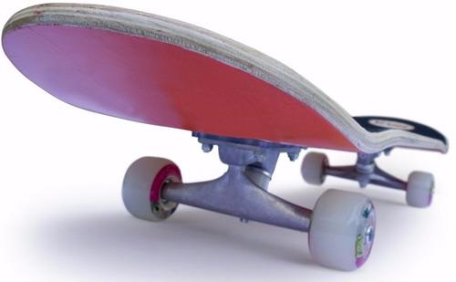 skate madera patineta completa track de aluminio ruedas pvc