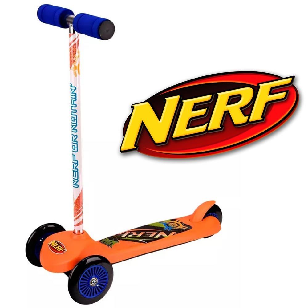 b7c411d511503 Skate Net Patinete Nerf Menino 3 Rodas Tri Wheels Laranja - R  246 ...