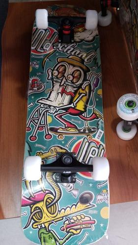 skate old school lab completo 81 cm x 22cm  - estampa retro