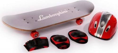 skate patineta lamborghini set proteccion dencar babymovil