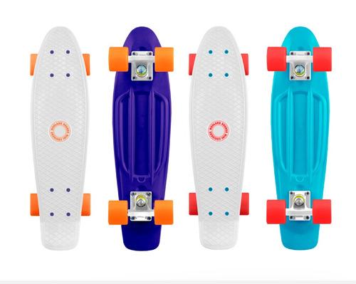 skate penny patineta mini longboard 22  diseño y rayos uv