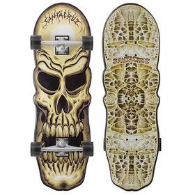 Skate Santa Cruz Completo Skull Cruzer Trucks 169mm